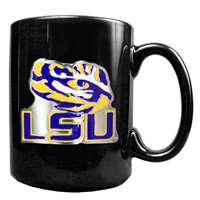 Lsu Tigers 15oz Black Ceramic Mug