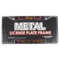 Lsu Tigers Metal Inlaid Acrylic License Plate Frame - Alternate