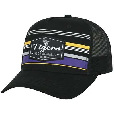 outlet store 7184e 3cc67 LSU Tigers Top of the World Adjustable Route Trucker Hat