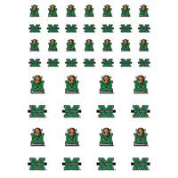 Marshall Thundering Herd Small Sticker Sheet - 2 Sheets