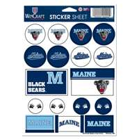 Maine Bears Vinyl Sticker Sheet - 17 Stickers