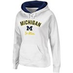 Michigan Wolverines Womens Pull Over Titan Fleece Hooded Sweatshirt