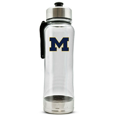 Michigan Wolverines Clip-On Water Bottle - 16 oz