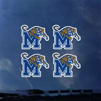 Memphis Tigers Transfer Decals - Set of 4