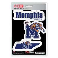 Memphis Tigers Decals - 3 Pack