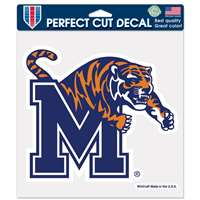 "Memphis Tigers Full Color Die Cut Decal - 8"" X 8"""