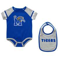 Memphis Tigers Infant Colosseum Warner Onesie and Bib Set