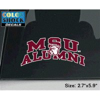 Mississippi State Bulldogs Decal - Arched Msu Alumni W/ Mascot