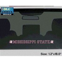Mississippi State Bulldogs Decal Strip - Mascot Heads With Mississippi State University
