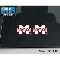 Mississippi State Bulldogs Decal - Small M State Logo - 2 Decals