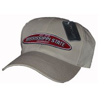 Mississippi State Bulldogs Khaki Adjustable Hat By Top Of The World