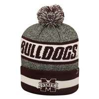 Mississippi State Bulldogs Top of the World Cumulus Pom Knit Beanie