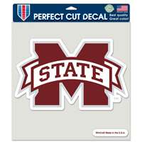"Mississippi State Bulldogs Full Color Die Cut Decal - 8"" X 8"""