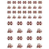 Mississippi State Bulldogs Small Sticker Sheet - 2 Sheets