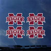 Mississippi State Bulldogs Transfer Decals - Set of 4