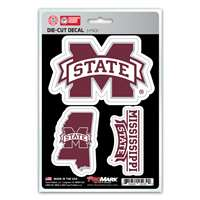 Mississippi State Bulldogs Decals - 3 Pack