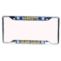Marquette Golden Eagles Metal License Plate Frame w/Domed Insert