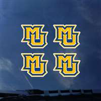Marquette Golden Eagles Transfer Decals - Set of 4