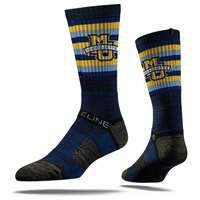 Marquette Golden Eagles Strideline Premium Crew Sock - Navy