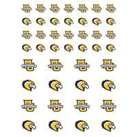 Marquette Golden Eagles Small Sticker Sheet - 2 Sheets