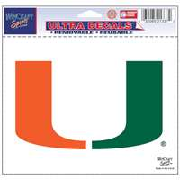 "Miami Hurricanes Ultra Decal 5"" x 6"""