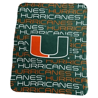 Miami Hurricanes Classic Fleece Blanket