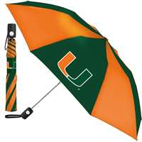 Miami Hurricanes Umbrella - Auto Folding