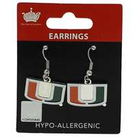 Miami Hurricanes Dangler Earrings