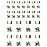 Miami Hurricanes Small Sticker Sheet - 2 Sheets