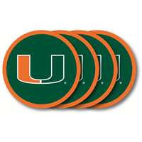 Miami Hurricanes Coaster Set - 4 Pack