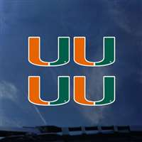 Miami Hurricanes Transfer Decals - Set of 4