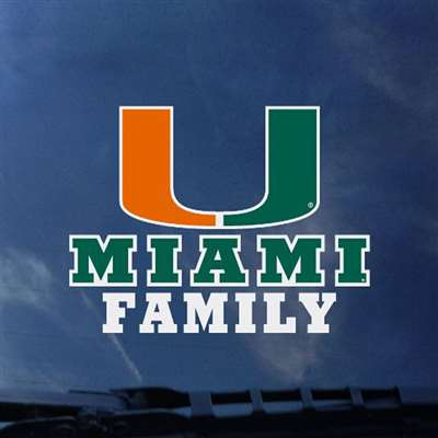 Miami Hurricanes Transfer Decal Family