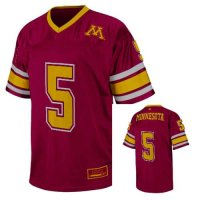 Minnesota Golden Gophers Youth Printed Stadium Football Jersey - #5 Maroon