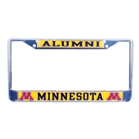Minnesota Golden Gophers Alumni Metal License Plate Frame W/domed Insert
