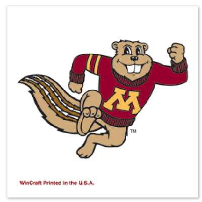 Minnesota Golden Gophers Temporary Tattoo - 4 Pack - Mascot