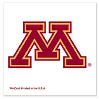 Minnesota Golden Gophers Temporary Tattoo - 4 Pack - M Logo