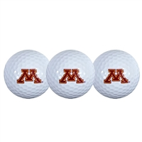 Minnesota Golden Gophers Golf Balls - 3 Pack