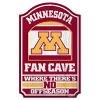 Minnesota Golden Gophers Fan Cave Wood Sign