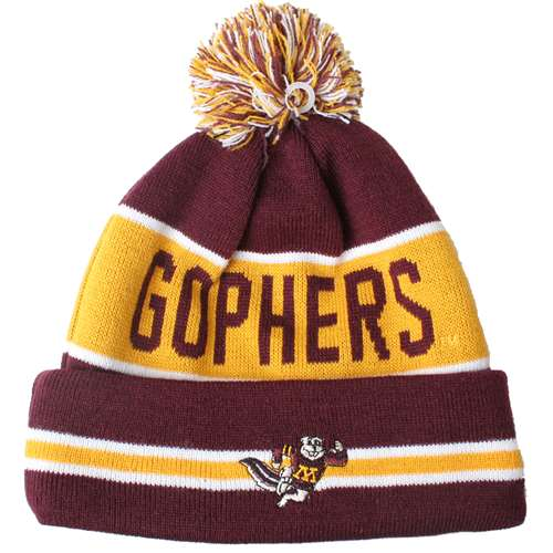 7840b9b7 Minnesota Golden Gophers New Era The Coach Pom Knit Beanie