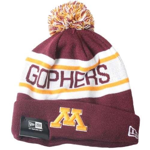 newest 1df14 fb8e2 Minnesota Golden Gophers New Era Biggest Fan Knit Beanie