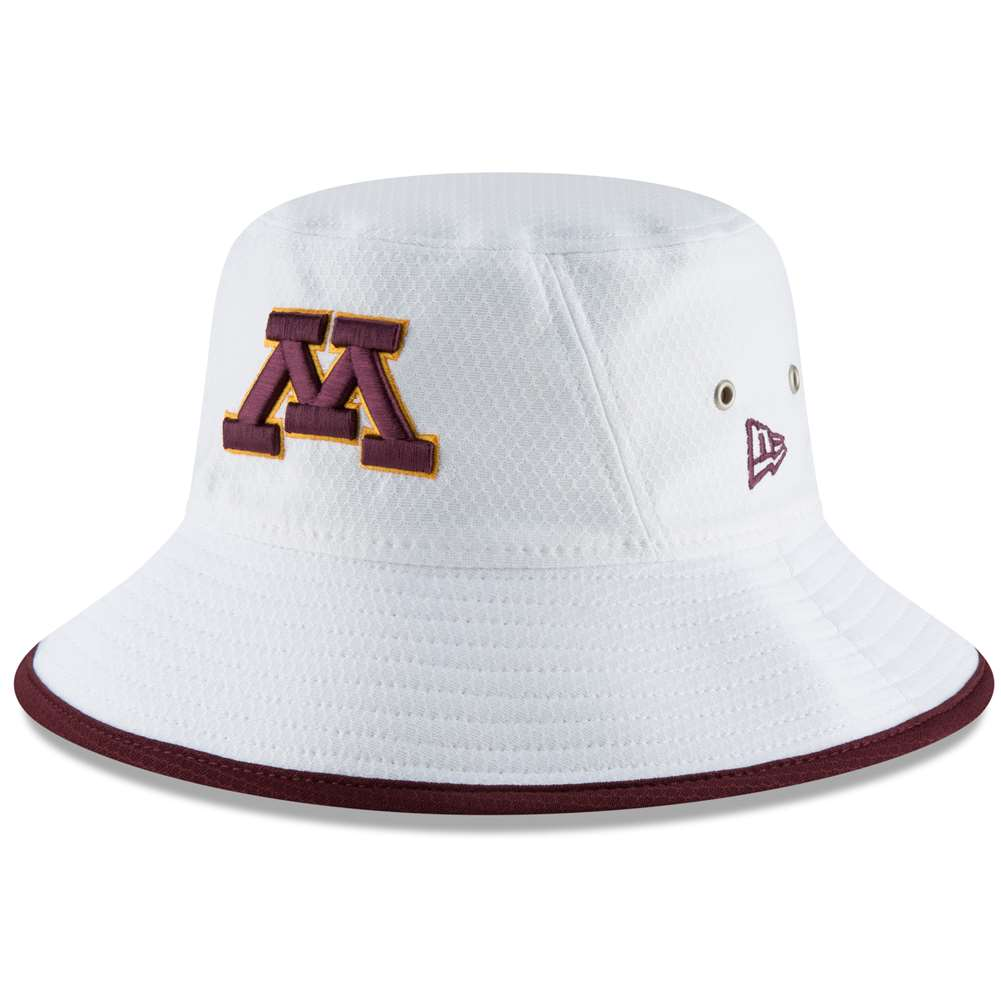 best service b005f b9cd3 Minnesota Golden Gophers New Era Hex Bucket Hat - White