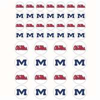 Mississippi Ole Miss Rebels Small Sticker Sheet - 2 Sheets