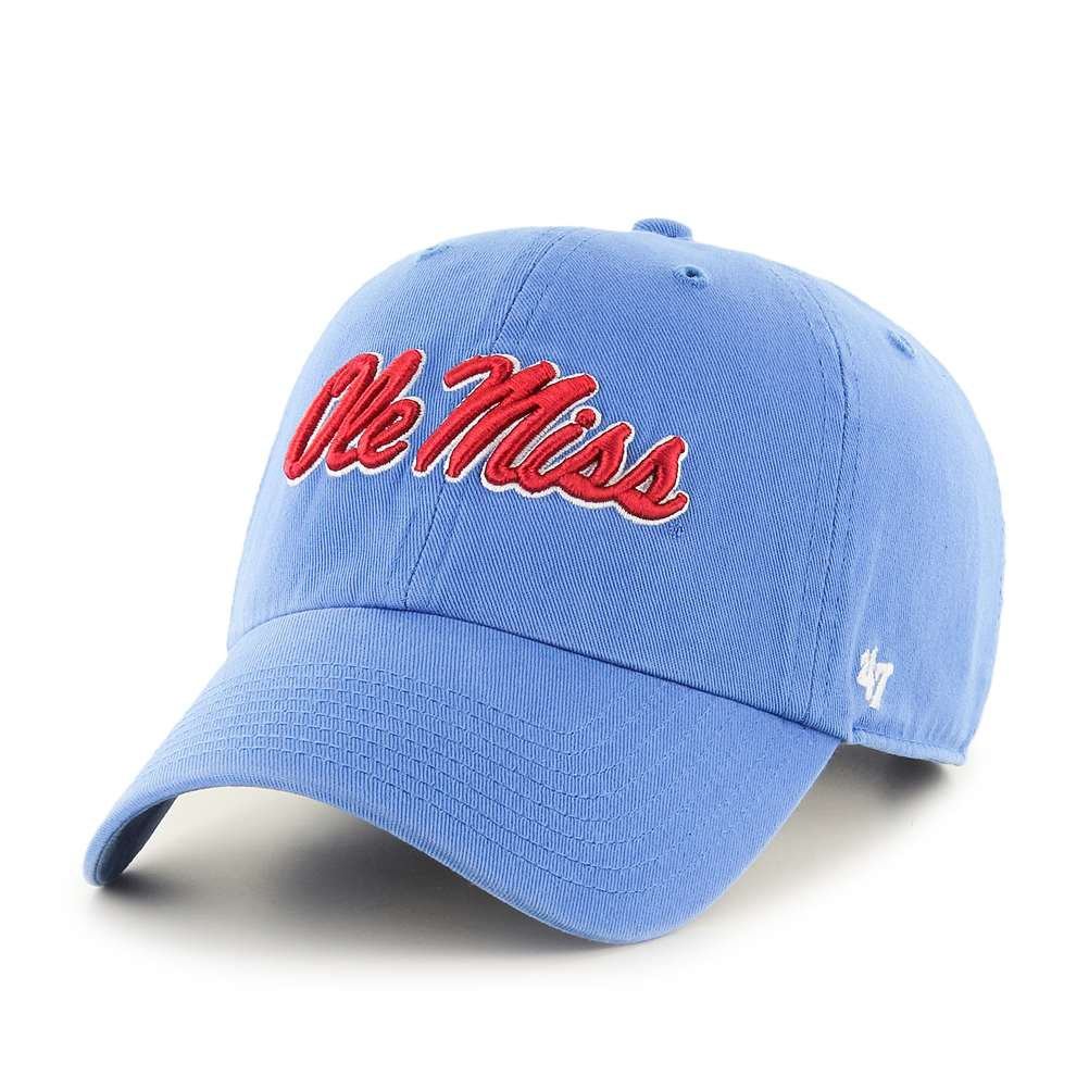 the best attitude 07610 1ee0d Mississippi Ole Miss Rebels  47 Brand Clean Up Adjustable Hat - Blue