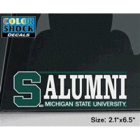 Michigan State Spartans Decal - S W/ Alumni Over Michigan State University