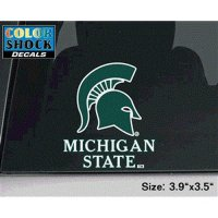 Michigan State Spartans Decal - Mascot Over Michigan State