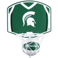 Michigan State Spartans Mini Basketball And Hoop Set