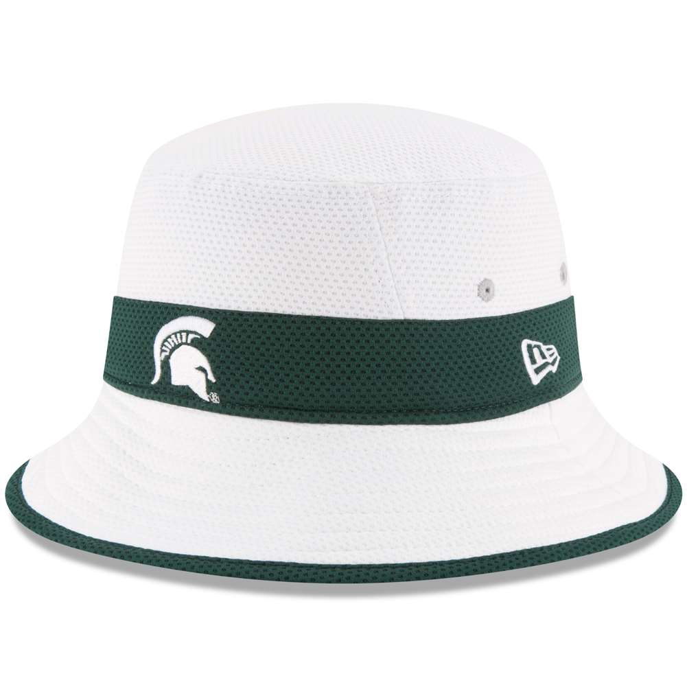 d563fb249c369 Michigan State Spartans New Era Training Bucket Hat - White