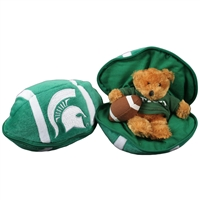 Michigan State Spartans Stuffed Bear in a Ball - Football
