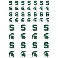 Michigan State Spartans Small Sticker Sheet - 2 Sheets