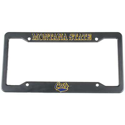 Montana State Bobcats Plastic License Plate Frame